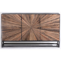 Astral Plains Reclaimed 3 Door Accent Cabinet - Natural Finish - Lifestyle Furniture