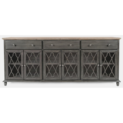 Aurora Hills Accent Cabinet - Charcoal Grey - Lifestyle Furniture