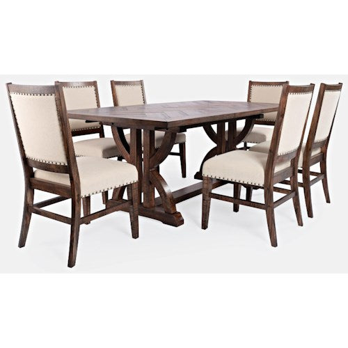Fairview 7-Piece Dining Table Collection - Color Oak - Lifestyle Furniture