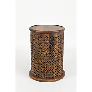 Mango Drum End Table
