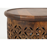 Mango Drum End Table - Lifestyle Furniture