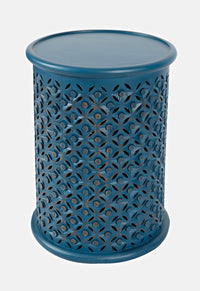 Blue Drum End Table - Lifestyle Furniture