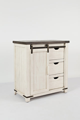 Madison Accent Cabinet - White & Black - Lifestyle Furniture