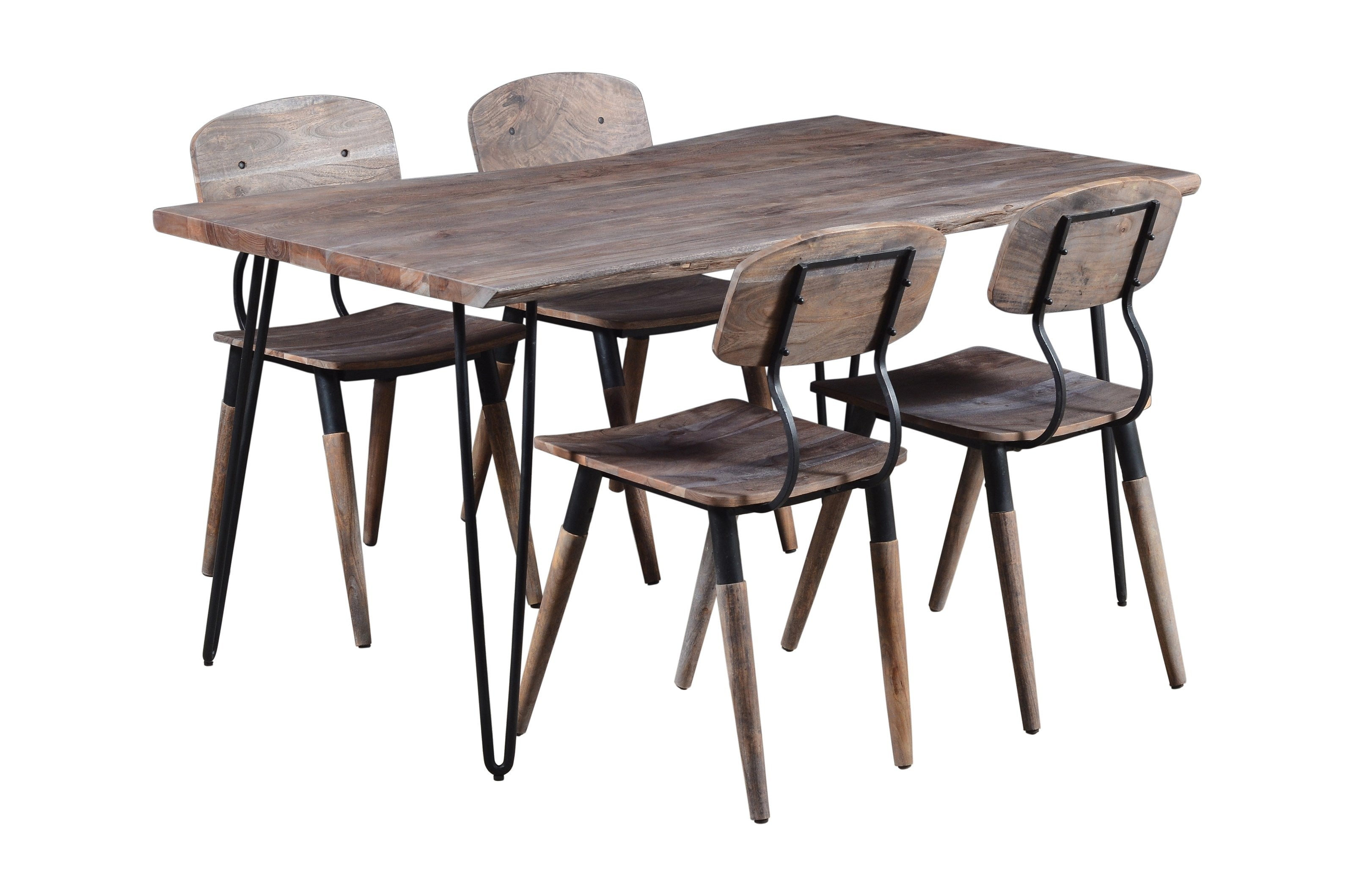 Rustic Grey Nature's Edge Dining Room Set - Lifestyle Furniture