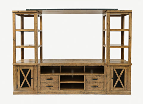 Natural Pine Entertainment Center - Lifestyle Furniture