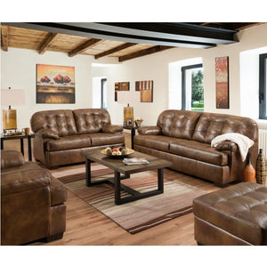 Cayuga County -  Tufted Back Leather Sofa
