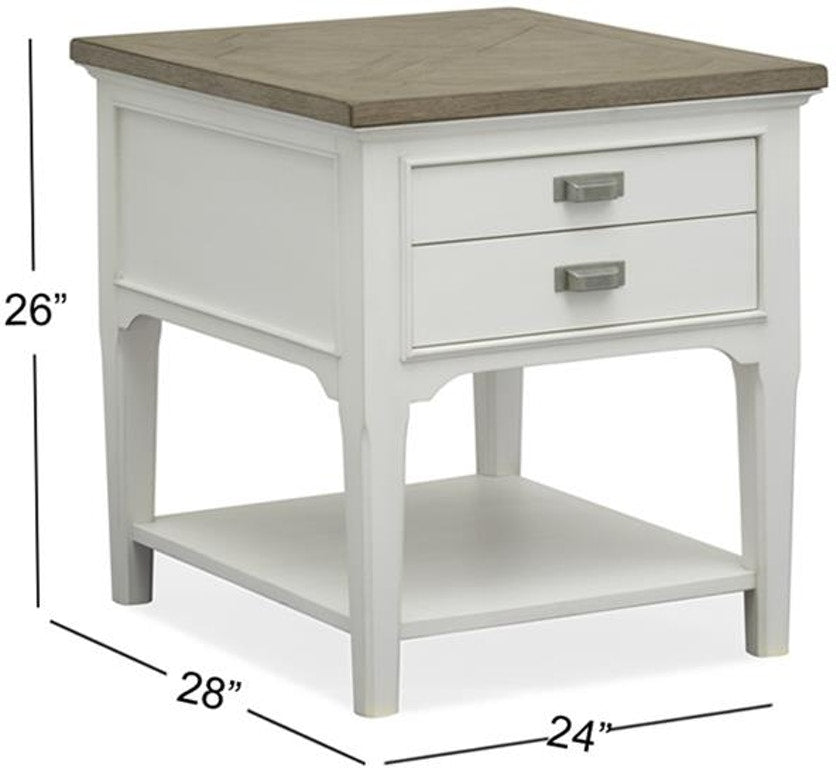 Cottage End Table - Pearl White - Lifestyle Furniture