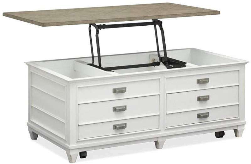 Cottage Cocktail Table - Pearl White - Lifestyle Furniture
