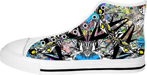 Alien Visitations 1 White High Tops Sneakers