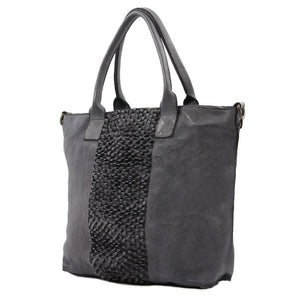 Grass Blade Leather Tote