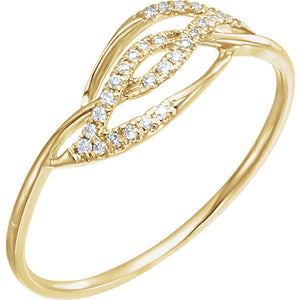 14K Yellow Gold Diamond Accented Ring