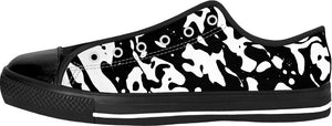 Soapy Bubbles Black Low Tops