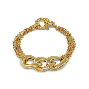 Golden Veneto Mesh Links Bracelet