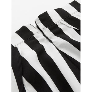 High Slit Striped Palazzo Pants