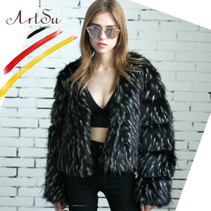 Fluffy Overcoat Warm Faux Fur Jacket