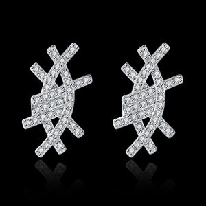 S925 Sterling Silver Ear Studs Stone Stud Earrings