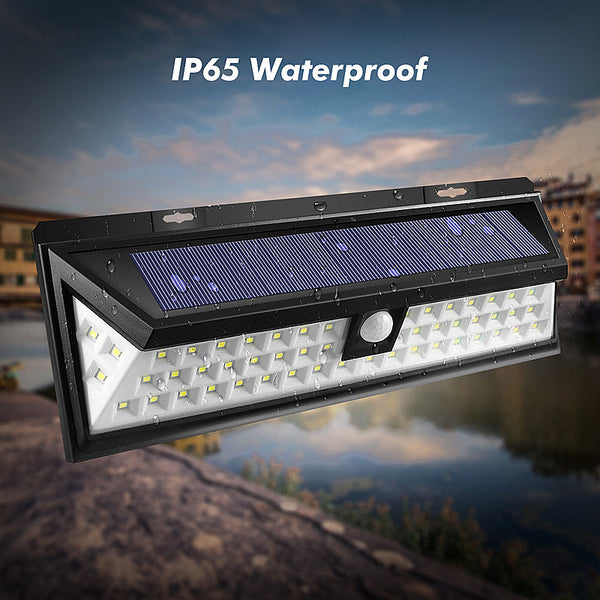 Solar Power LED (54) Light with PIR Motion Sensor