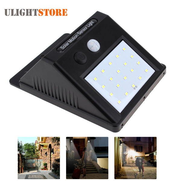Solar Power & PIR Motion Sensor LED Light