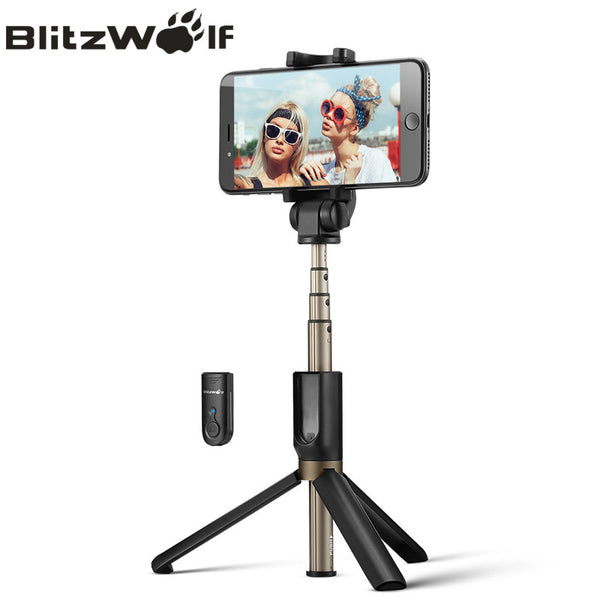 BlitzWolf 3 in 1 Wireless Bluetooth Selfie Stick