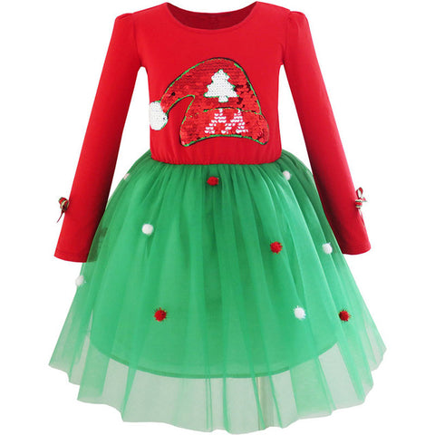 Sunny Fashion Girls Dress for Christmas