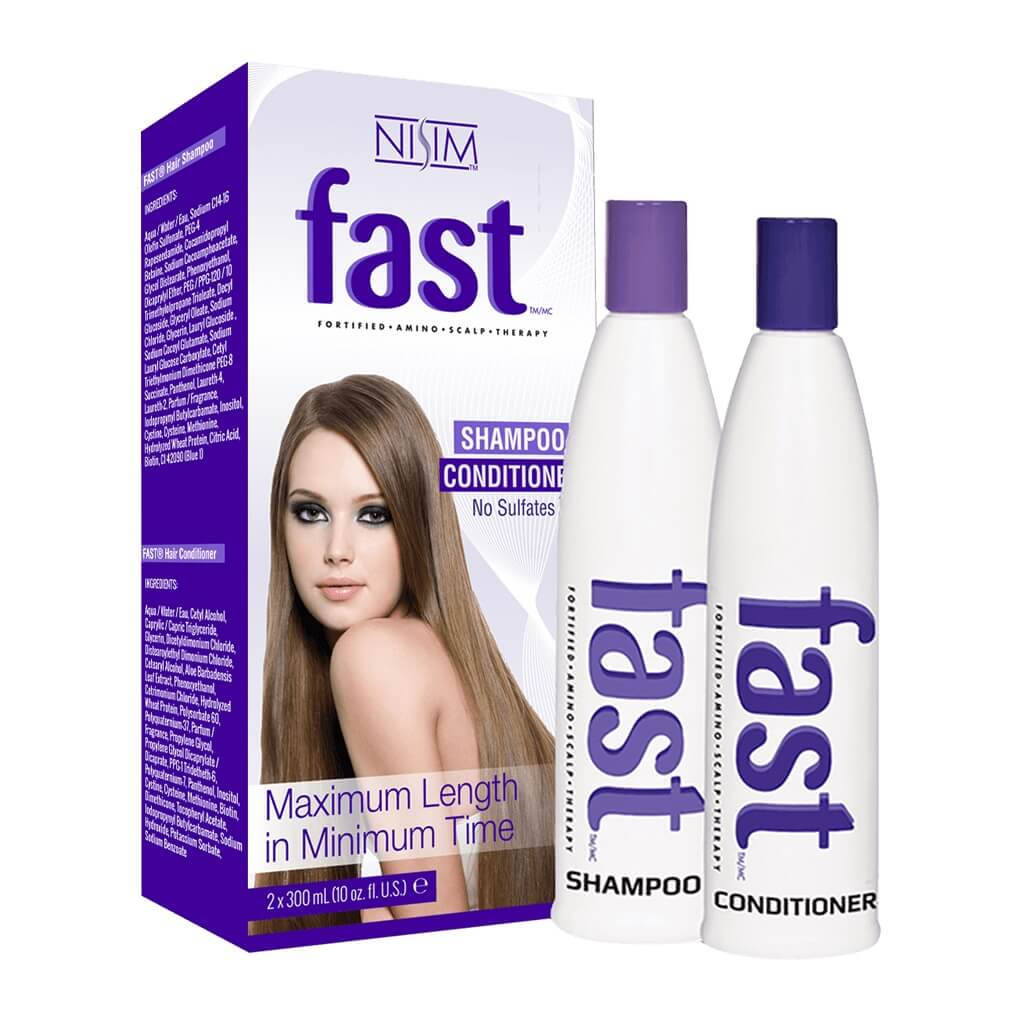 F.A.S.T - 2 Pack 300mL Shampoo & Conditioner - No Sulfates, Parabens, DEA