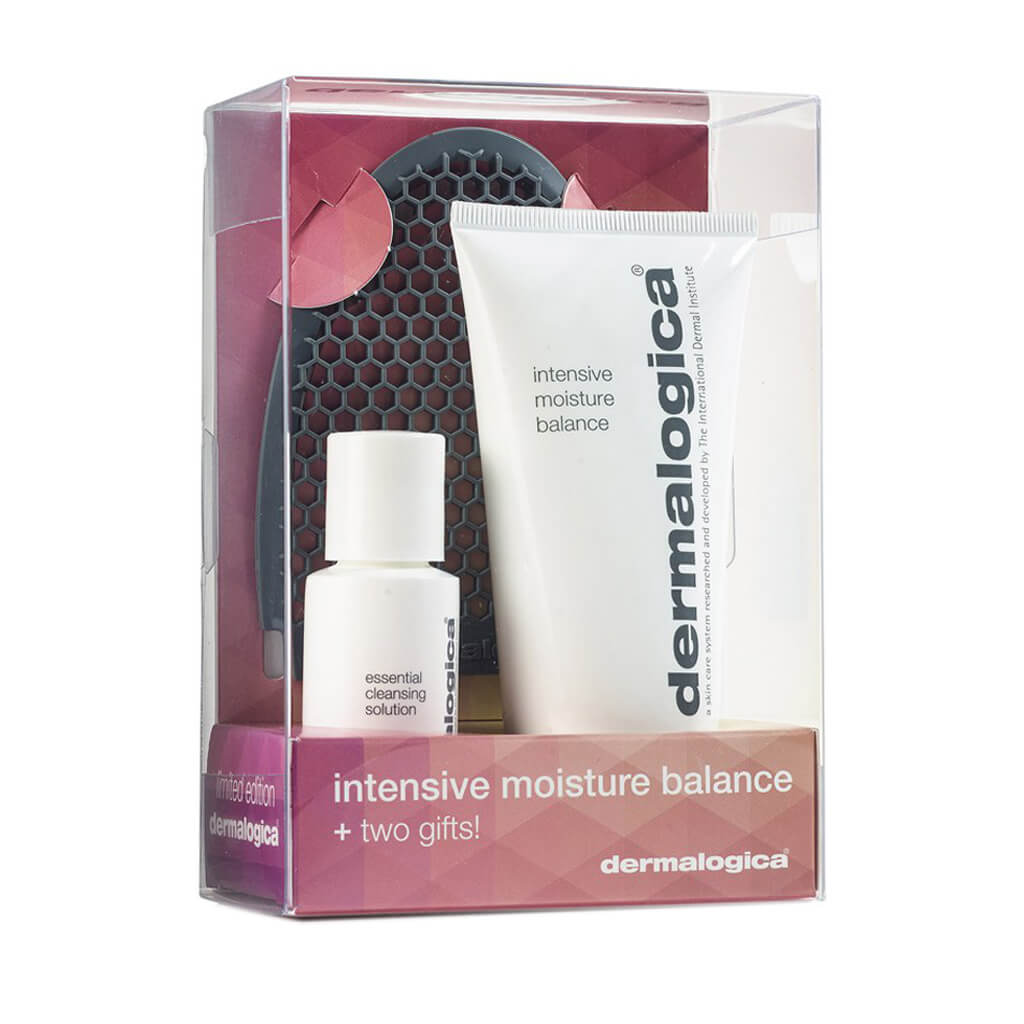 Dermalogica Intensive Moisture Balance 3.4 oz Hard Candy Eyem Tired, Lightweight Depuffing Eye Serum. 0.59 Oz + Hard Candy TAKE IT OFF Makeup Remover Wipes, 25 Count + Beyond BodiHeat Patch, 1 Ct