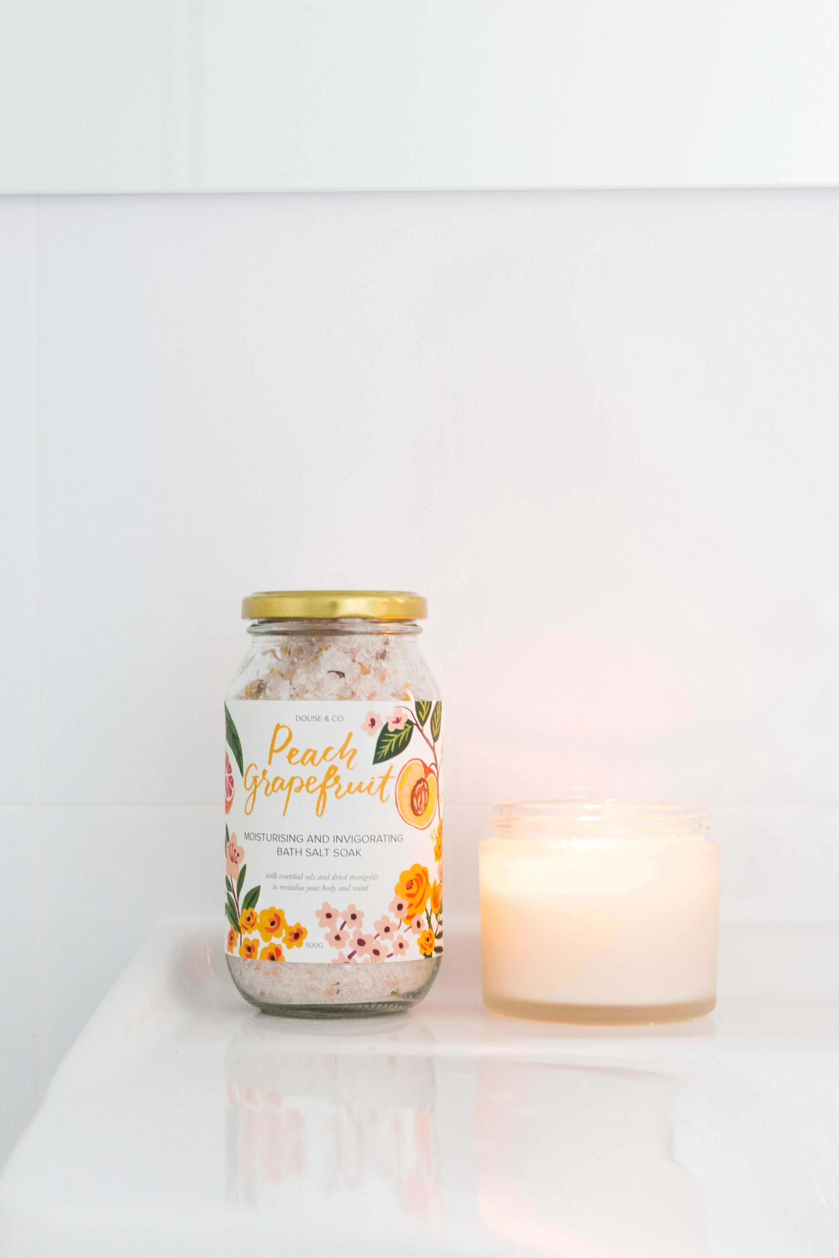 Peach and Grapefruit Invigorating Bath Salt Soak