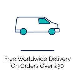 Free worldwide delivery over £30