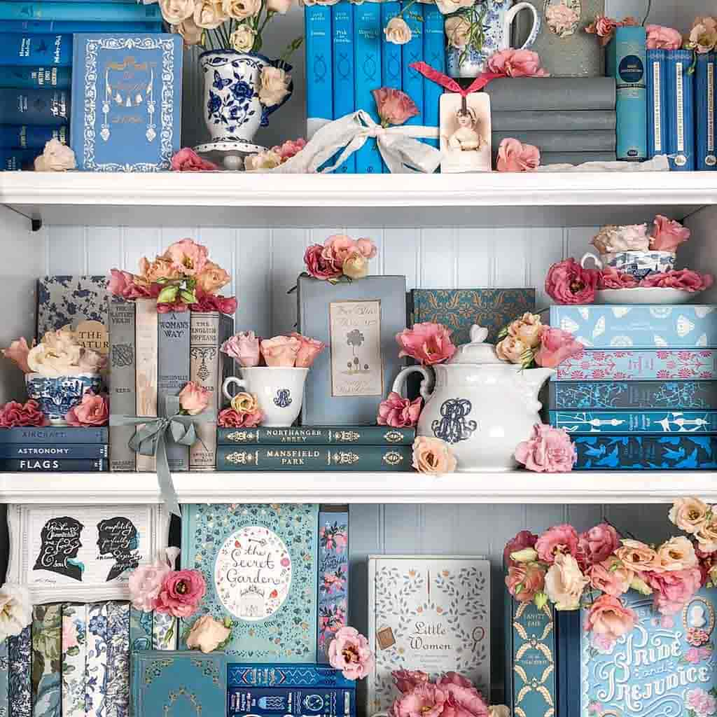 Shop our beautiful books by the foot from our country house library
