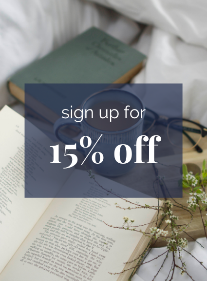 sign up for 15% off vintage books Country House Library