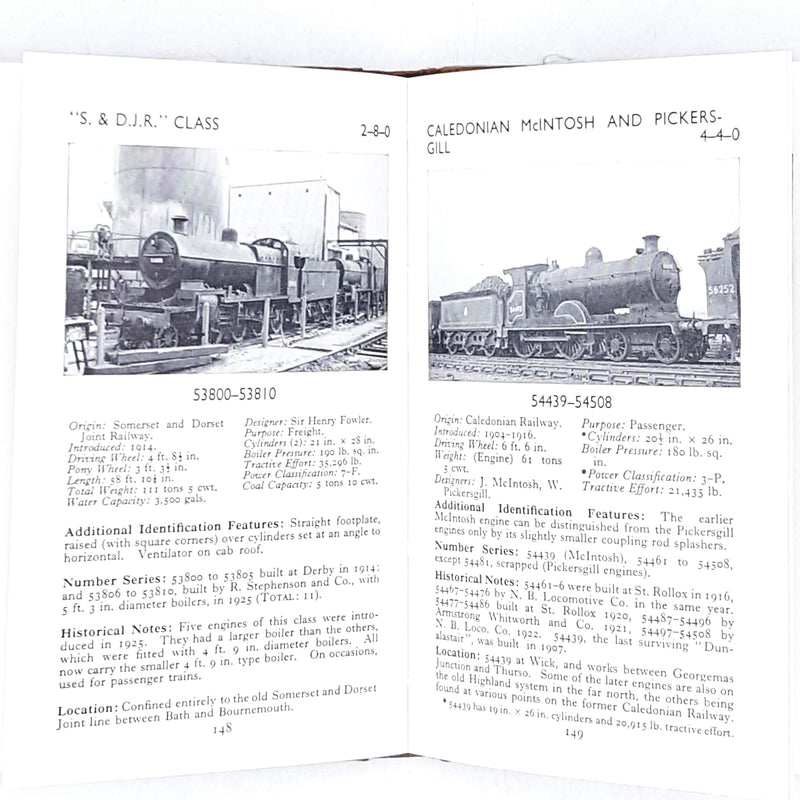 Second Edition Observer's Book of Railway Locomotives of Britain 1958