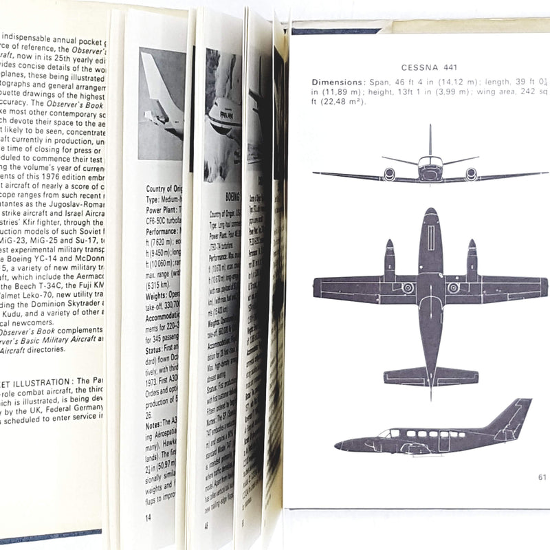 The Observer's Book of Aircraft by William Green 1976