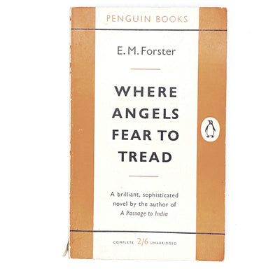 first-edition-penguin-orange-where-angels-fear-to-tread-by-e-m-forster-1959-country-house-library