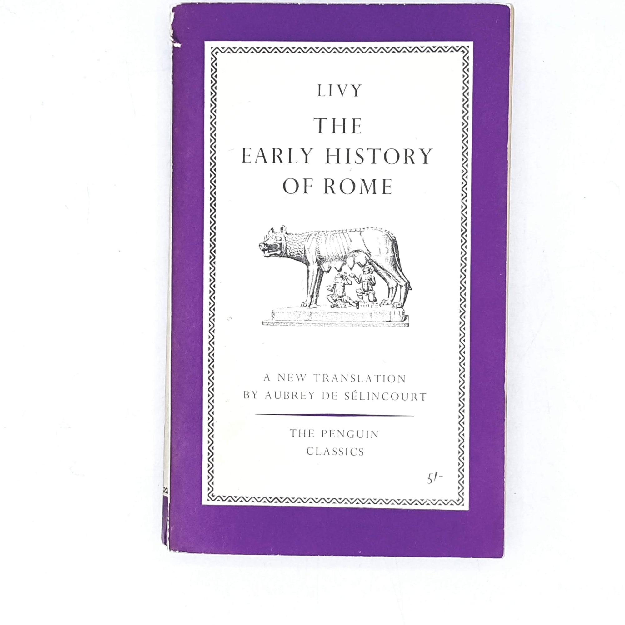 First Edition The Early History of Rome: Books I-V by Livy 1960