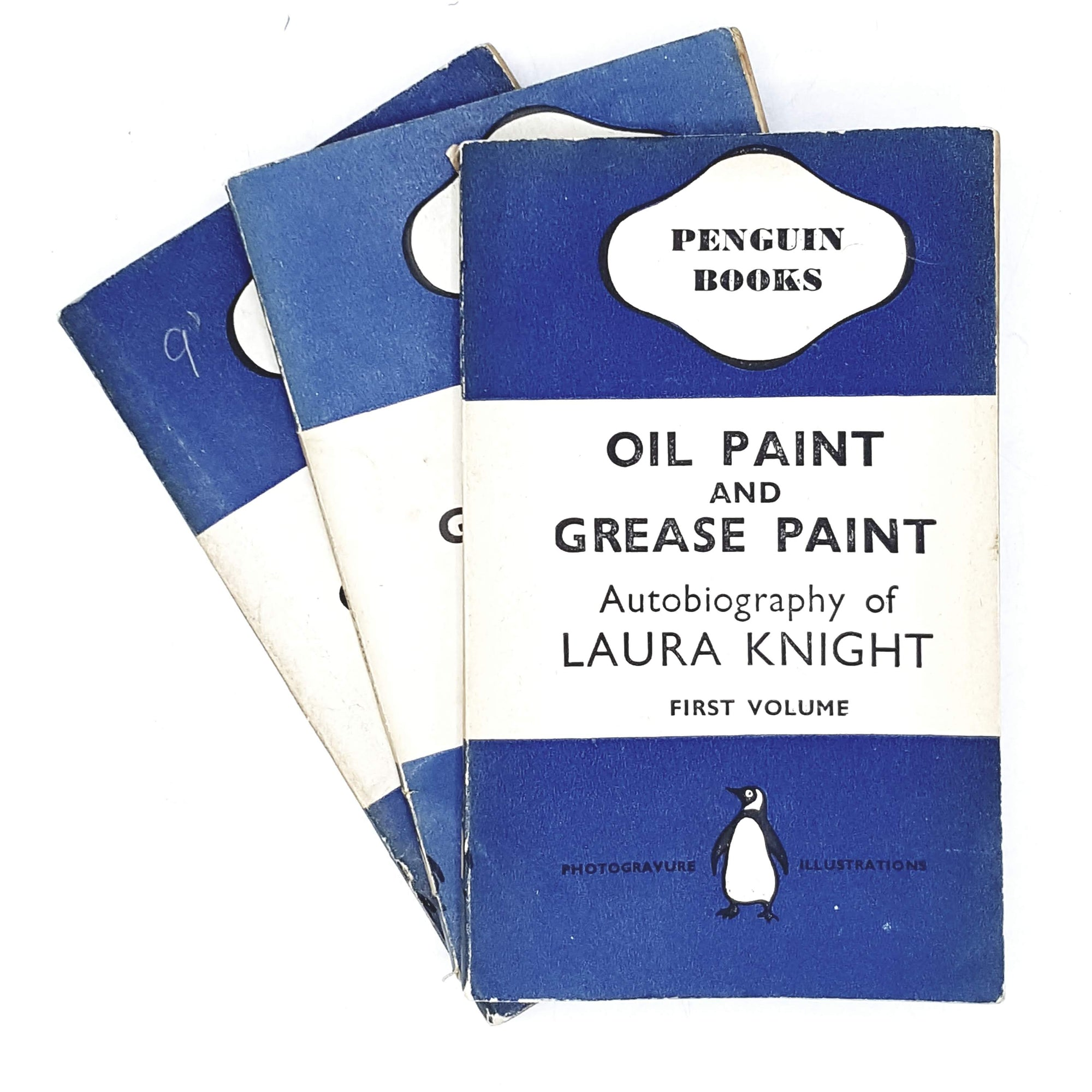 first-edition-penguin-collection-oil-paint-and-grease-paint-by-laura-knight-1941-country-house-library