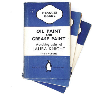 first-edition-penguin-collection-blue-oil-paint-and-grease-paint-laura-knight-1941-country-house-library