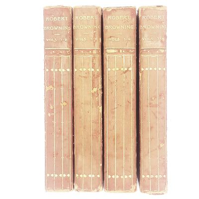 Collection Robert Browning's Poetry Volumes I - VII 1902