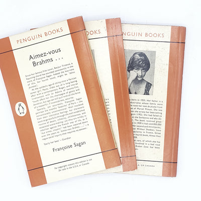 Collection of 3 Francoise Sagan Titles 1960s