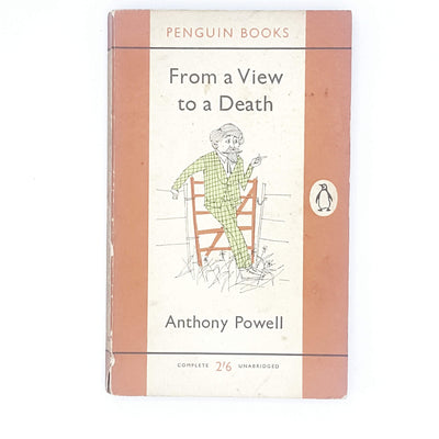 first-edition-orange-penguin-from-view-to-a-death-by-anthony-powell-1961-country-house-library