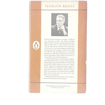 first-edition-orange-penguin-from-view-to-a-death-anthony-powell-1961-country-house-library