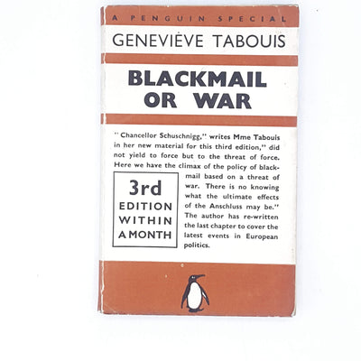 Blackmail or War by Genevieve Tabouis 1938