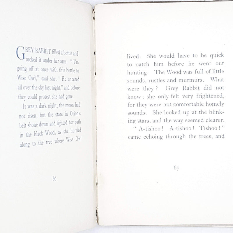 First Edition How Little Grey Rabbit Got Back Her Tail by Alison Uttley 1930