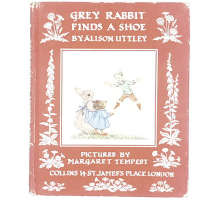 Illustrated Grey Rabbit Finds a Shoe by Allison Uttley 1971