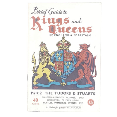 Brief Guide to Kings and Queens of England & Great Britain Part II