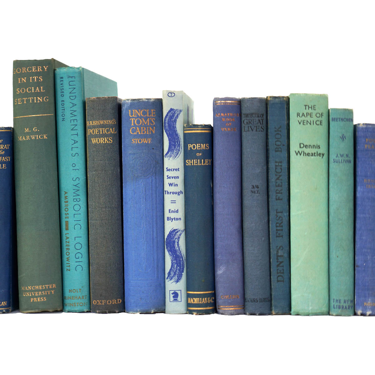 BOOKS BY THE METRE: Vintage Blue