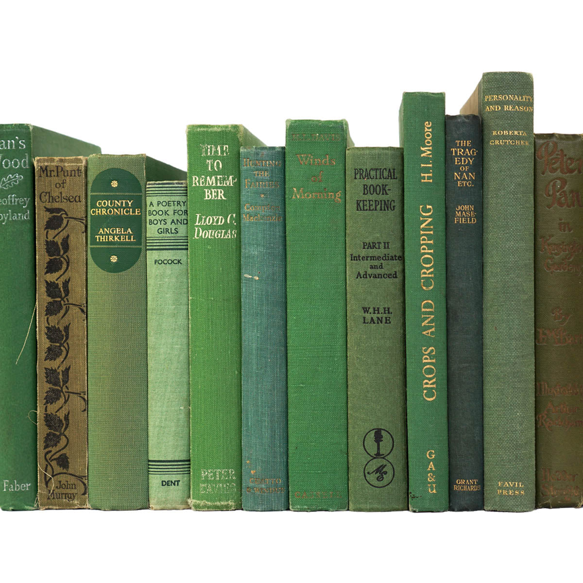 BOOKS BY THE METRE: Vintage Green