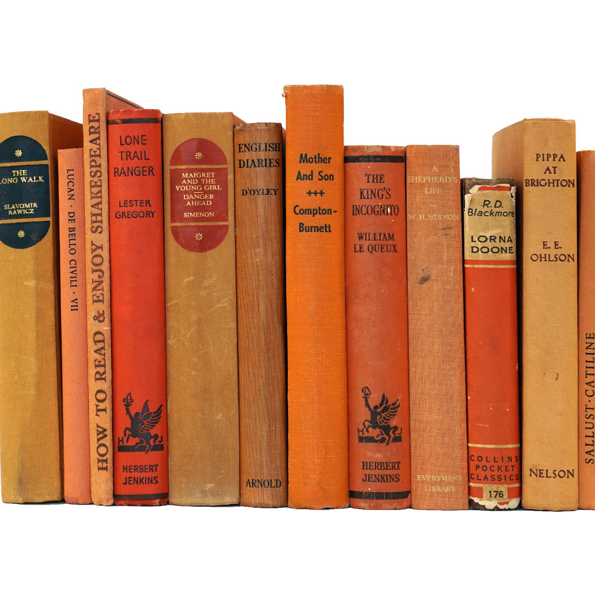 BOOKS BY THE METRE: Vintage Orange
