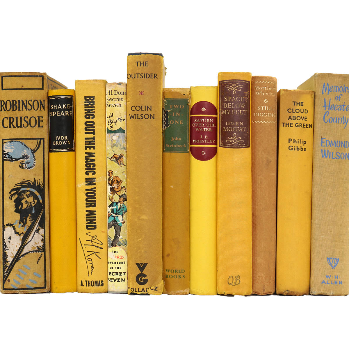 BOOKS BY THE METRE: Vintage Yellow