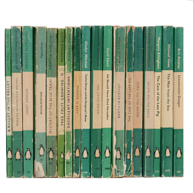 Collection of Green Vintage Penguin Books - Bluebell Abbey
