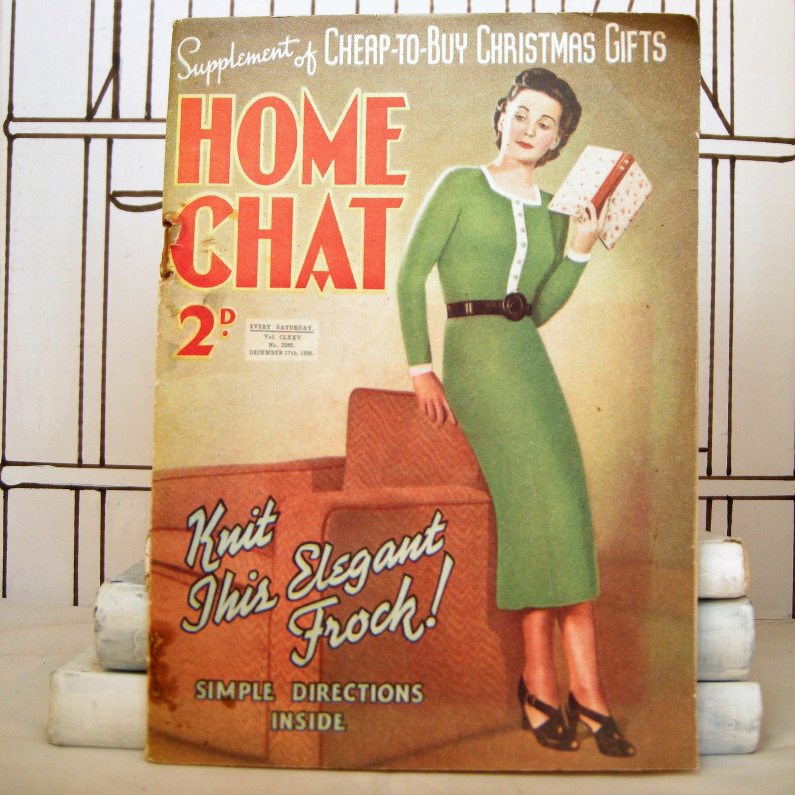 Home Chat: Volume 175, Issue 2282 (Vintage, Christmas, Magazine) - Bluebell Abbey